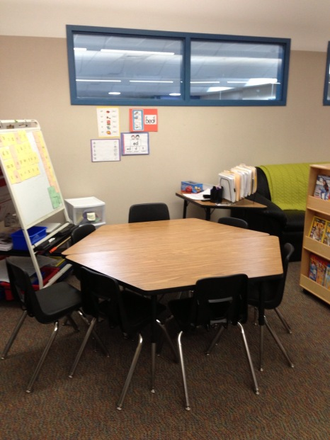This was my small group area in the RtI classroom at my school!