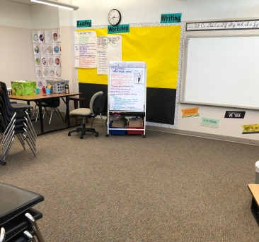 Kelly's whole class meeting area for her 5th graders.