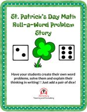 TpT St. Patrick's Day Math Roll-a-Story